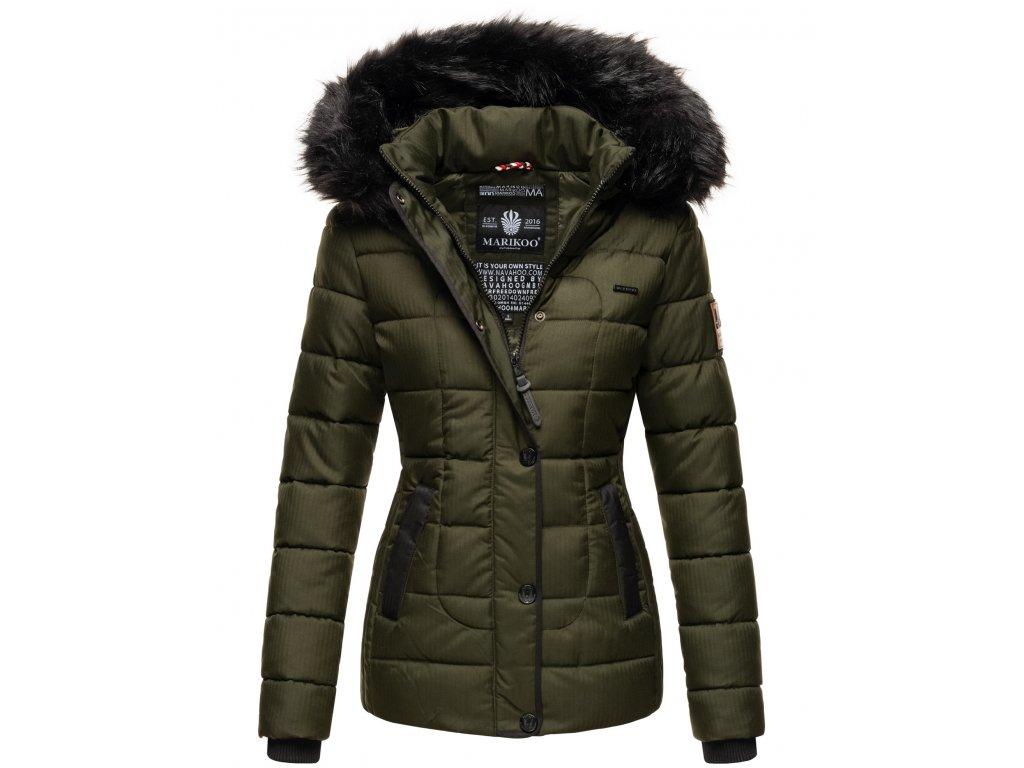 Dámska zimná bunda s kapucňou Unique Marikoo - OLIVE