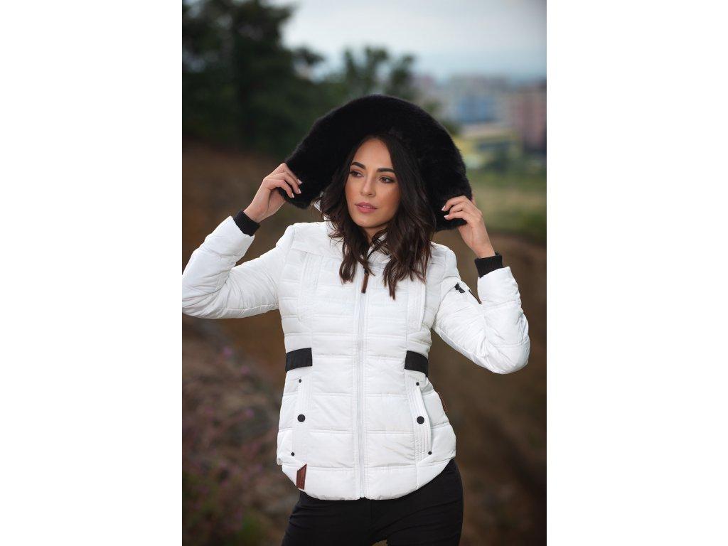 Dámská zimní bunda Melikaa Navahoo - WHITE