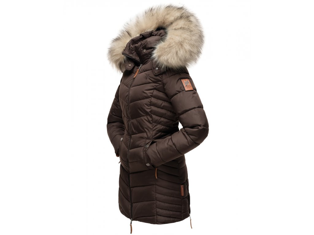 Dámska zimná bunda - kabát Nimalaa Navahoo - CHOCOLATE