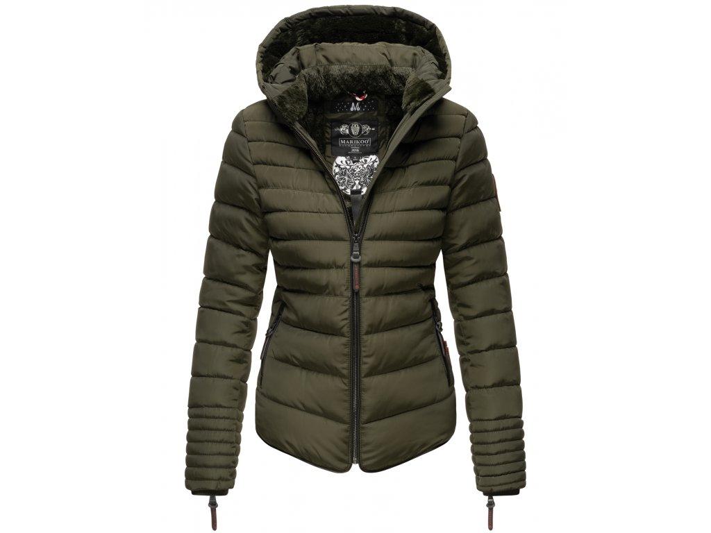 Dámska zimná bunda s kožušinkou Amber Marikoo - OLIVE