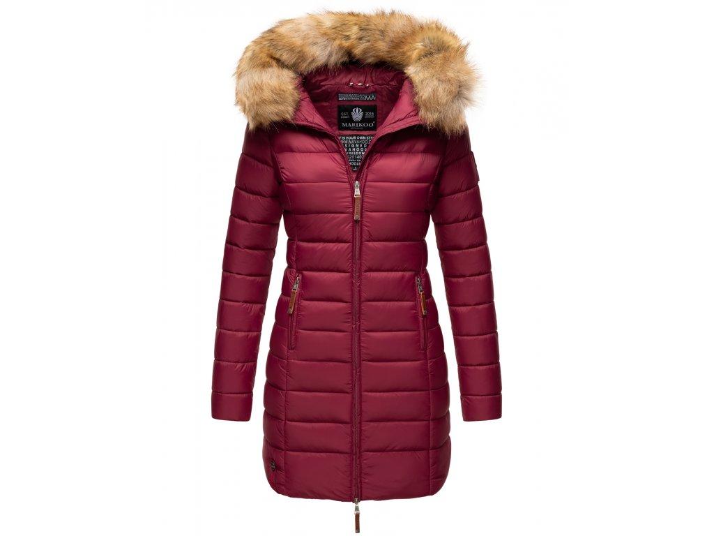 Dámska prechodová bunda s kapucňou ROSE 110 Marikoo - BORDEAUX
