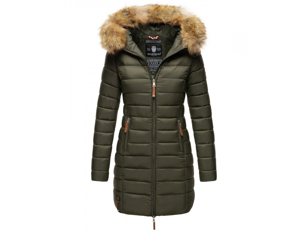 Dámska prechodová bunda s kapucňou ROSE 110 Marikoo - GREEN