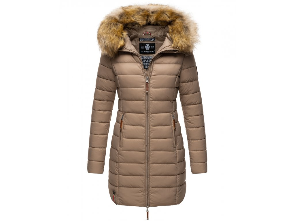 Dámska prechodová bunda s kapucňou ROSE 110 Marikoo - TAUPE
