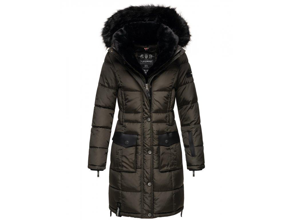 Dámska zimná bunda kabát Sinja Navahoo - ANTRACITE