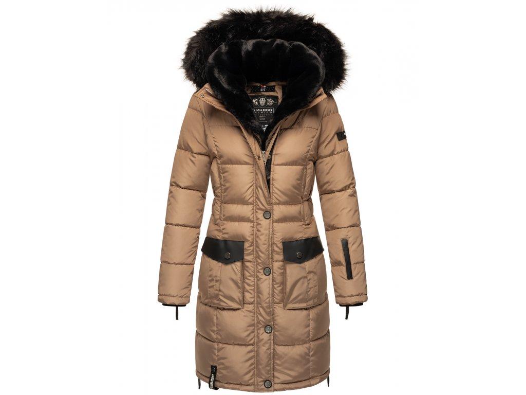 Dámska zimná bunda kabát Sinja Navahoo - TAUPE