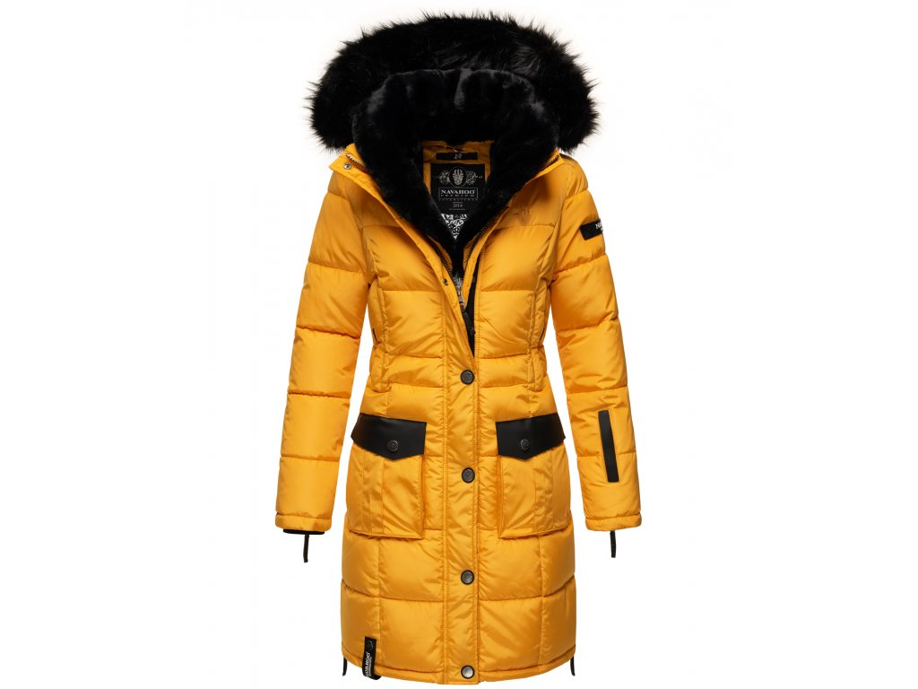 Dámska zimná bunda kabát Sinja Navahoo - YELLOW