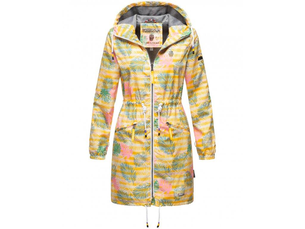 Dámska podšitá bunda do dažďa 3v1 Parella Navahoo - YELLOW