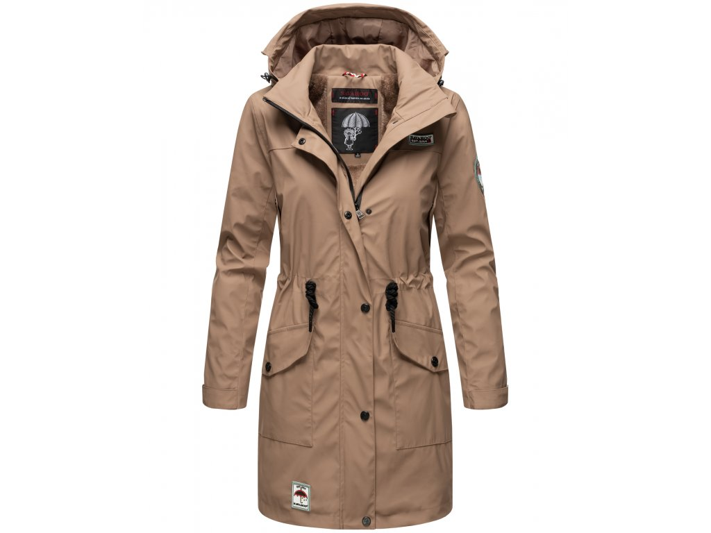 Dámska zimná bunda do dažďa Deike Navahoo - TAUPE