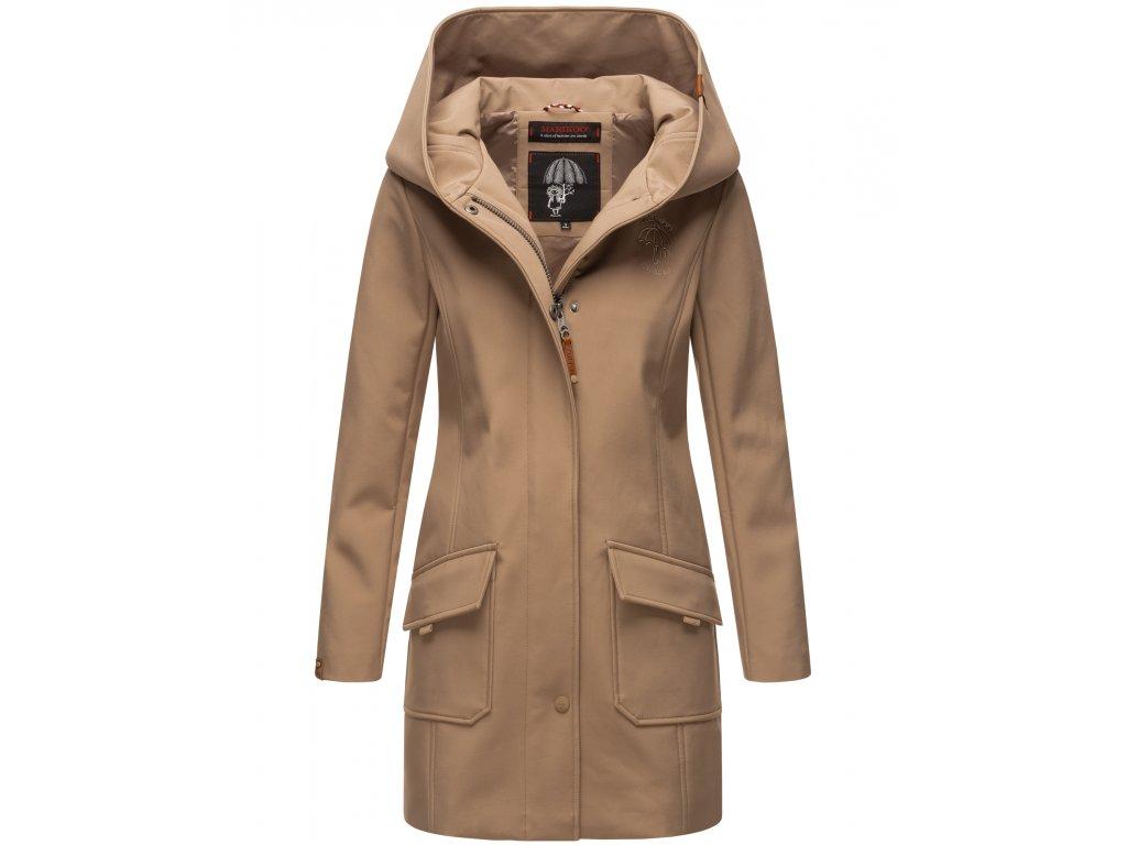 Dámsky zimný Softshell kabátik Mayleen Marikoo - TAUPE