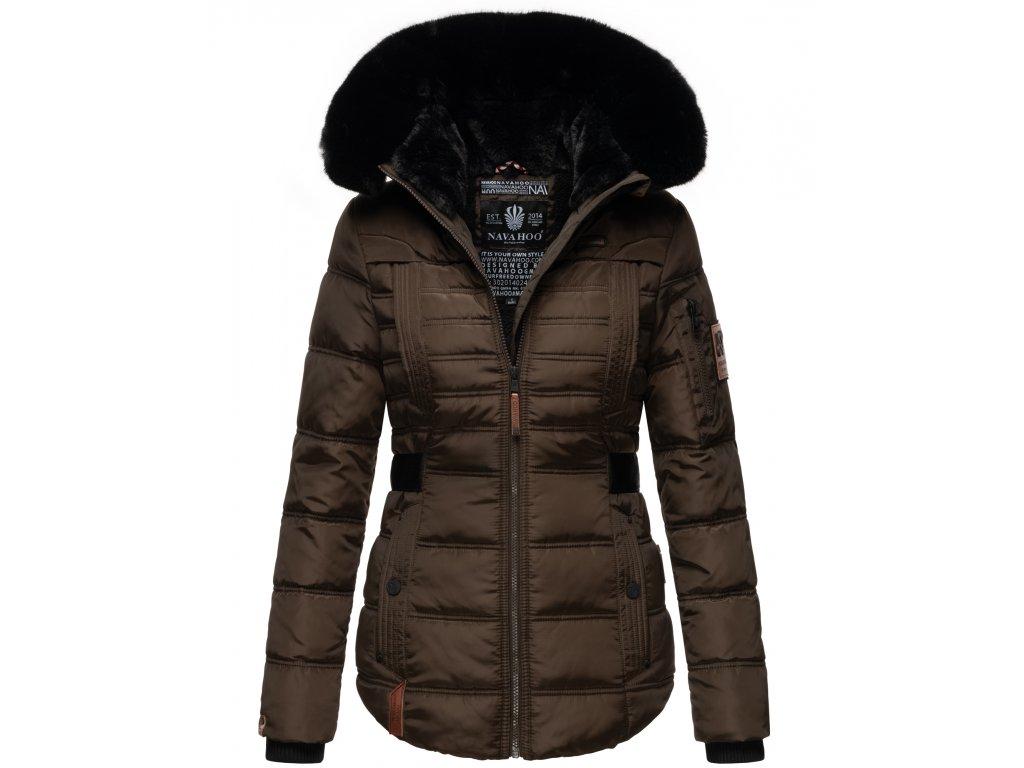 Dámská zimní bunda Melikaa Navahoo - CHOCOLATE