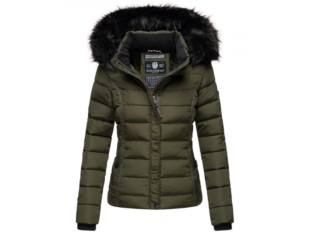 Dámska zimná bunda s kožušinkou MIAMOR Navahoo - OLIVE