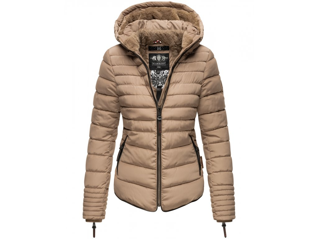 Dámska zimná bunda s kožušinkou Amber Marikoo - TAUPE