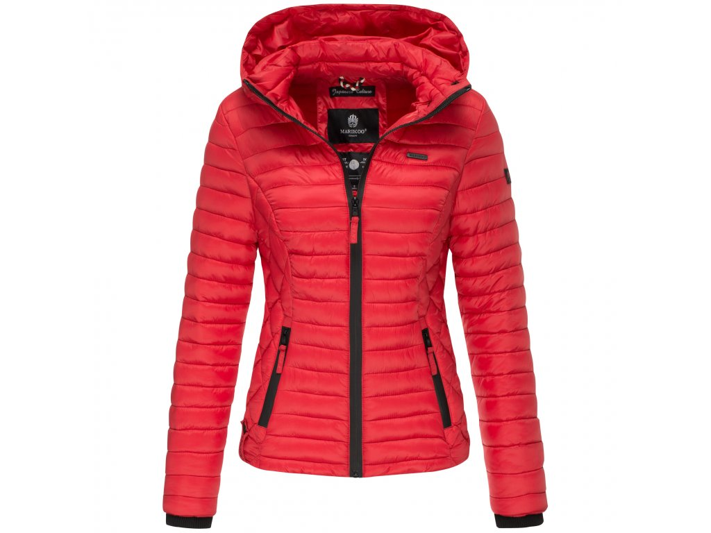 Dámska jarná-jesenná bunda s kapucňou Samtpfote Marikoo - RED