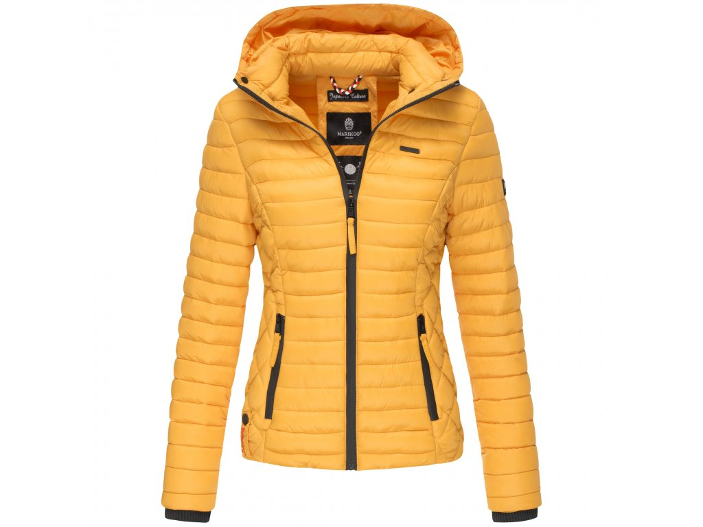 Dámska jarná-jesenná bunda s kapucňou Samtpfote Marikoo - YELLOW