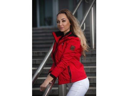 Dámska outdoorová bunda s kapucňou Eerdbeere Marikoo - RED
