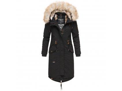 Dámsky zimný kabát s kapucňou Kin-joo Navahoo - BLACK