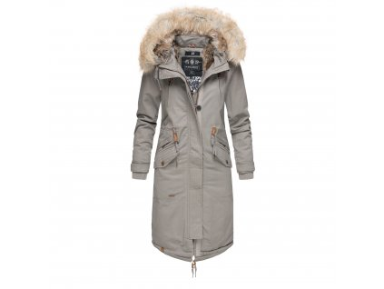 Dámsky zimný kabát s kapucňou Kin-joo Navahoo - GREY