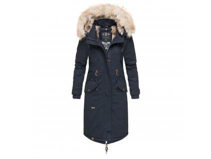 Dámsky zimný kabát s kapucňou Kin-joo Navahoo - NAVY