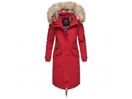 Dámsky zimný kabát s kapucňou Kin-joo Navahoo - RED
