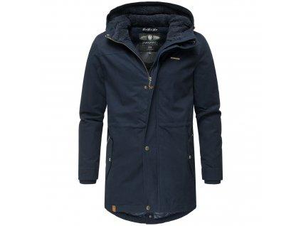 Zimný kabát / pánska zimná dlhá bunda Manakaa Marikoo - NAVY