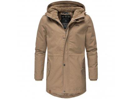 Zimný kabát / pánska zimná dlhá bunda Manakaa Marikoo - LIGHT BROWN
