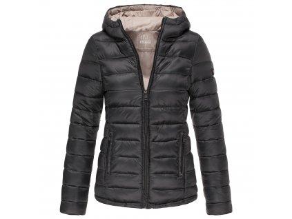 Dámska bunda s kapucňou Lucy Marikoo - BLACK