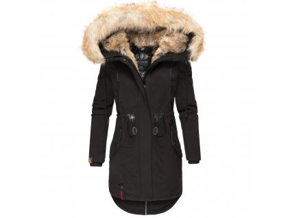 Dámska zimná dlhá bunda Bombii Navahoo - BLACK