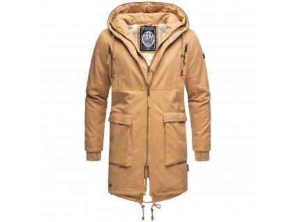 Pánsky zimný dlhý kabát 2v1 Assasin Navahoo - CAMEL