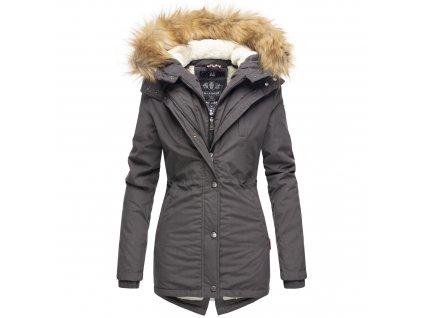 Dámska zimná bunda s kožušinkou AKIRA Marikoo - ANTRACITE