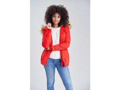 Dámska zimná bunda s kožušinkou AKIRA Marikoo - RED