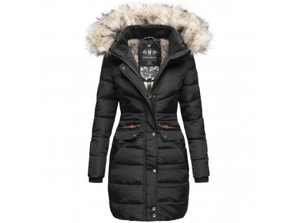 Dámska zimná dlhá bunda Paula Navahoo - BLACK