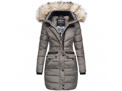 Dámska zimná dlhá bunda Paula Navahoo - GREY