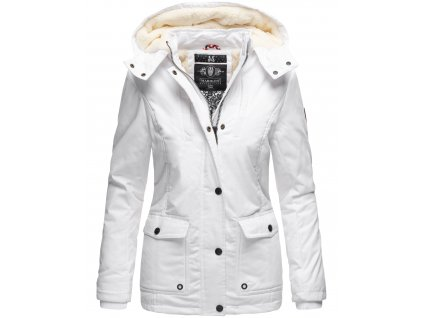 Dámska zimná bunda s kapucňou Keikoo Marikoo 2019 - WHITE