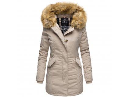 Dámska zimná bunda Karmaa Marikoo - BEIGE