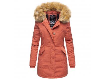 Dámska zimná bunda Karmaa Marikoo - DARK CORAL