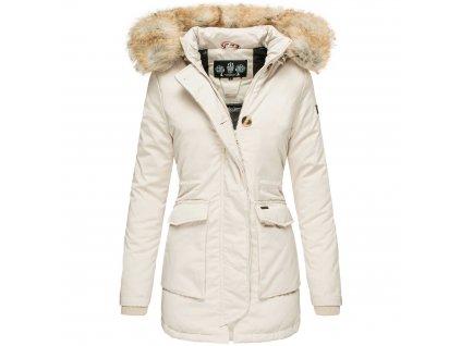 Dámska zimná bunda s kapucňou Schneeengel Navahoo 2019 - BEIGE