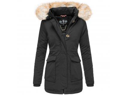 Dámska zimná bunda s kapucňou Schneeengel Navahoo 2019 - BLACK