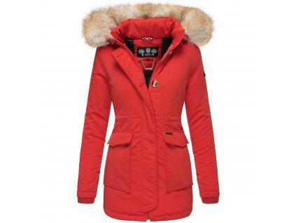 Dámska zimná bunda s kapucňou Schneeengel Navahoo 2019 - RED