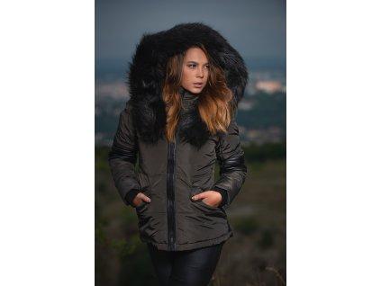Dámska zimná bunda s kapucňou Nirvana Navahoo - Antracite