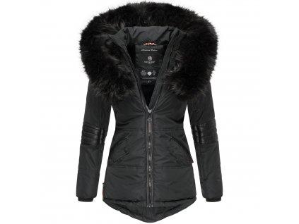 Dámska zimná bunda s kapucňou Nirvana Navahoo - BLACK