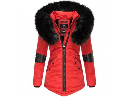 Dámska zimná bunda s kapucňou Nirvana Navahoo - RED