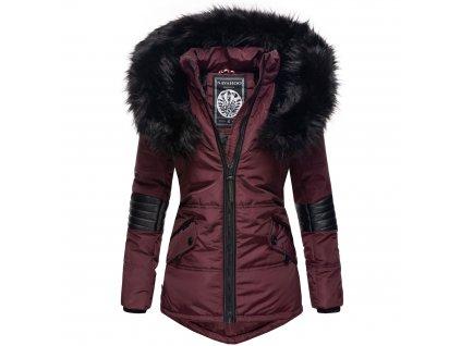 Dámska zimná bunda s kapucňou Nirvana Navahoo - WINE
