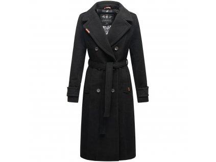 Dámsky zimný kabát dlouhý Arnaa Navahoo - BLACK
