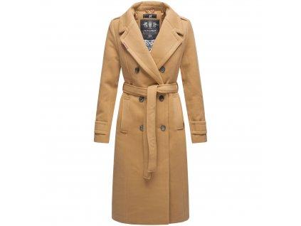 Dámsky zimný kabát dlouhý Arnaa Navahoo - CAMEL