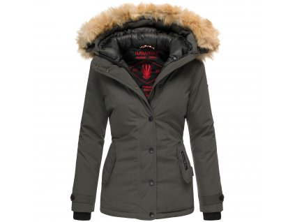 Dámska zimná bunda s kapucňou Laura Navahoo - Antracite