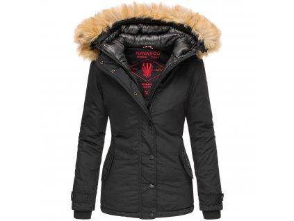 Dámska zimná bunda s kapucňou Laura Navahoo - BLACK