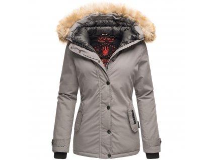 Dámska zimná bunda s kapucňou Laura Navahoo - LIGHT GREY