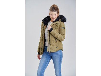 Dámska zimná bunda s kapucňou Lotusblute Marikoo - GREEN