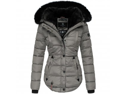 Dámska zimná bunda s kapucňou Lotusblute Marikoo - GREY