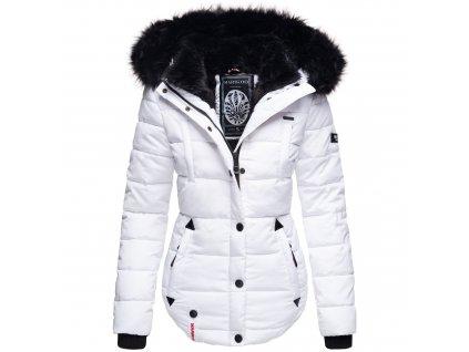 Dámska zimná bunda s kapucňou Lotusblute Marikoo - WHITE